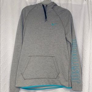 Gray and blue mike sweatshirt